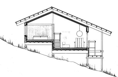 Holzskelettbau detail  Lothar Götz, 79837 Ibach/ Schwarzwald, Wohnhausgruppe, 1972 bis 1974